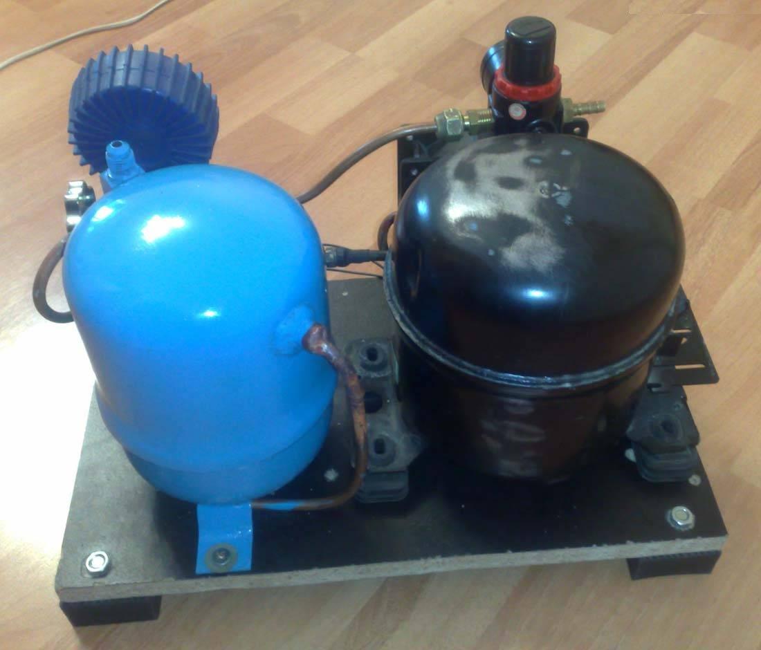 Из чего и как сделать компрессор 858