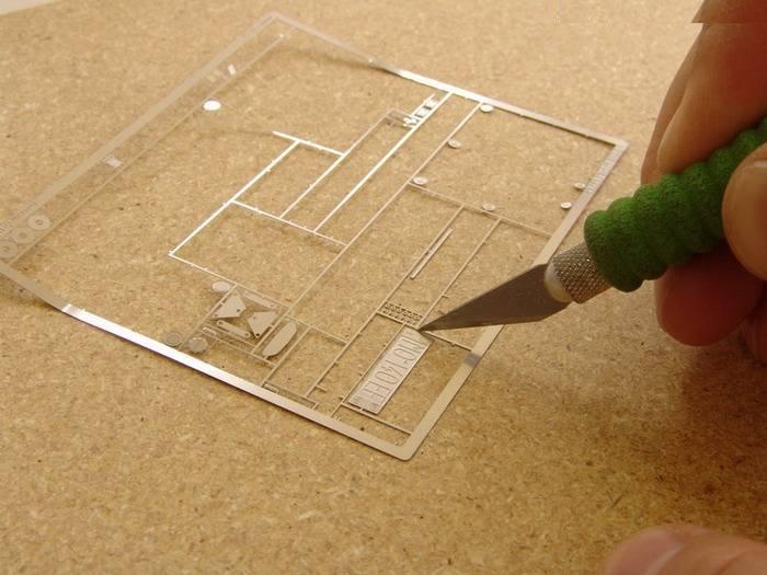 Деталировка модели с помощью элементов фототравления